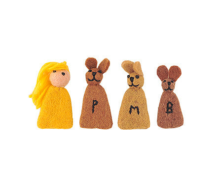 Goldilocks & The Three Bears Finger Puppets