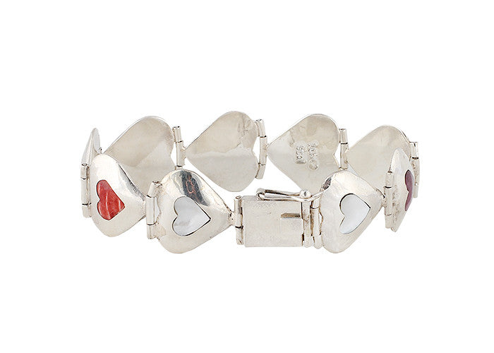 Pure Art Heart Silver Bracelet