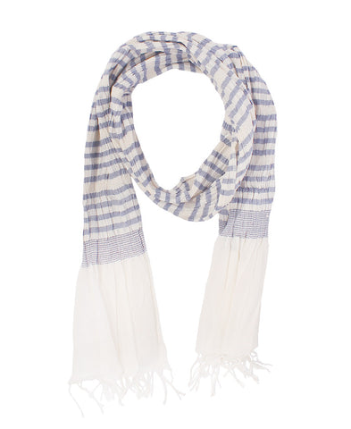 Blue Stripe  Cotton Scarf