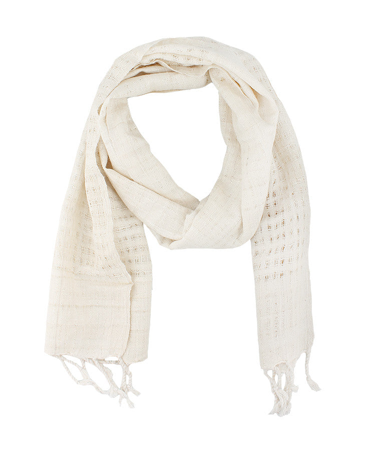 Organic Silk Scarf- Cream