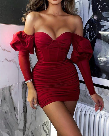 Long Sleeve Tube Mini Dress