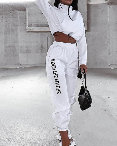 Crop Top & Jogger Pants Set
