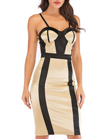 Sleeveless Backless Sling Bodycon Dress