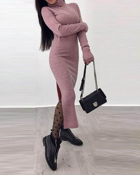High Neck Slt Jumper Dress