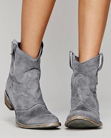 Suede Casual Ankle Boots