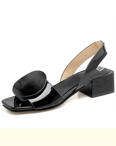 brife Open tone Low Chunky Block Comfortable Office Heeled Sandals