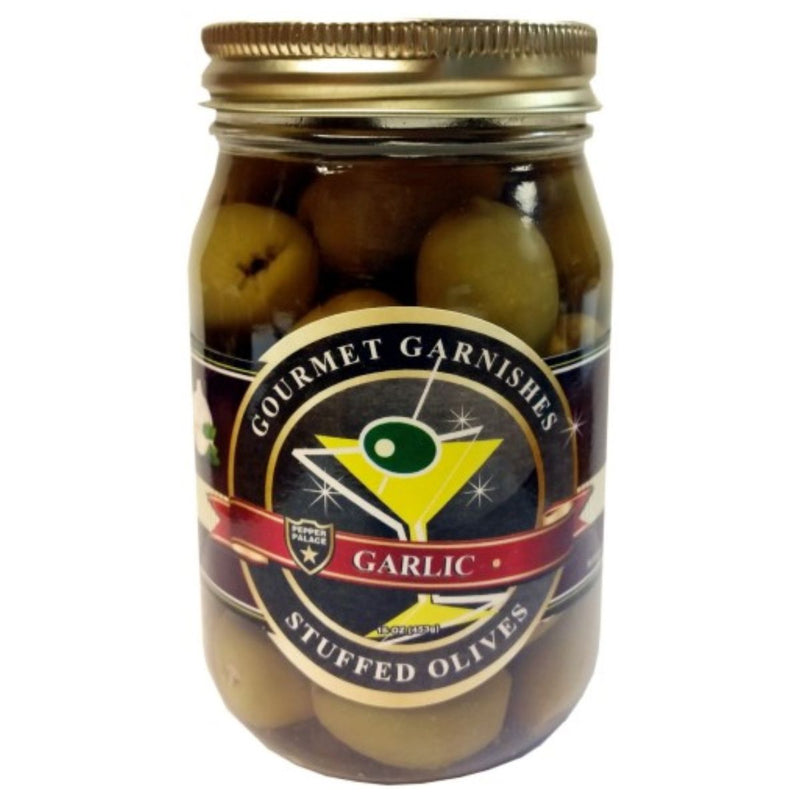 Pepper Palace Gourmet Garnishes Garlic Stuffed Olives