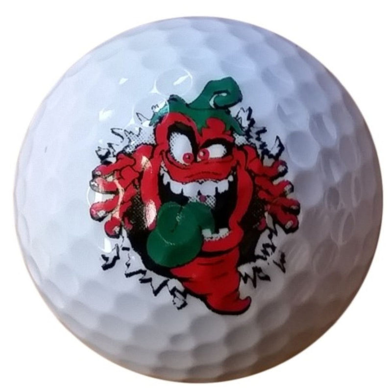 Pepper Palace Golf Ball Moe Bustin Out Logo