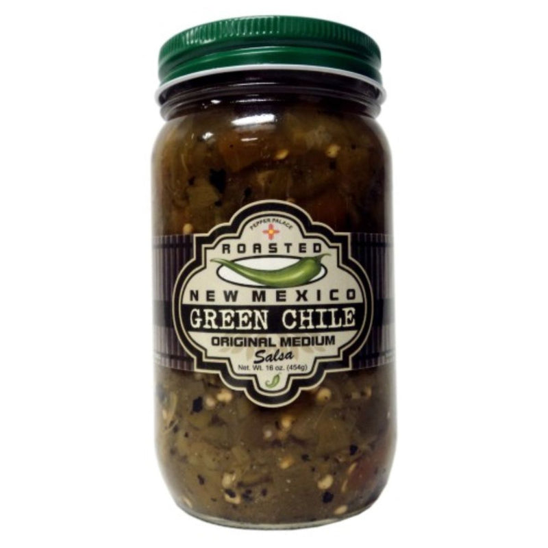 Pepper Palace Roasted New Mexico Green Chile Medium Salsa