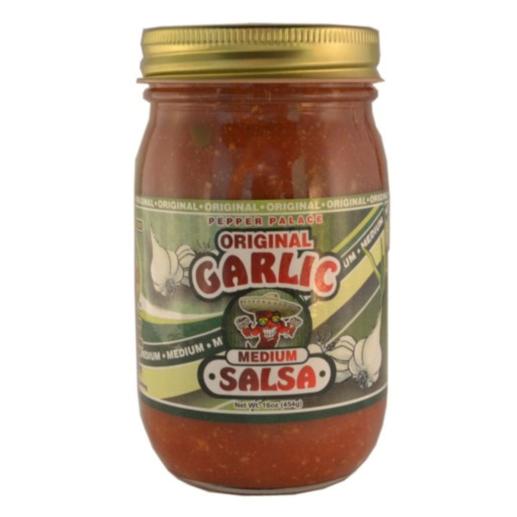 Pepper Palace Original Garlic Medium Salsa
