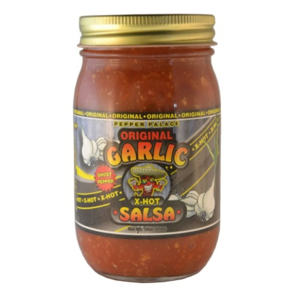 Pepper Palace Original Garlic Salsa X Hot with Ghost Pepper