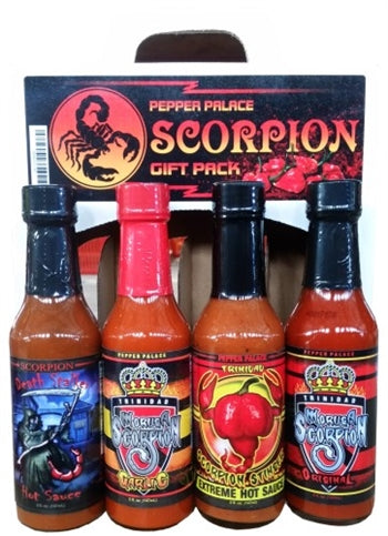 Pepper Palace Scorpion Pepper Hot Sauce Gift Pack