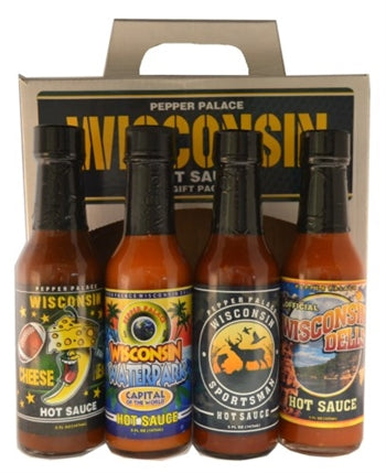 Pepper Palace Wisconsin Hot Sauce Gift Pack
