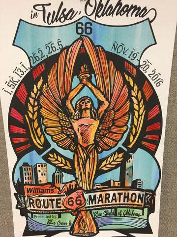2016 Route 66 Marathon Commemorative Poster