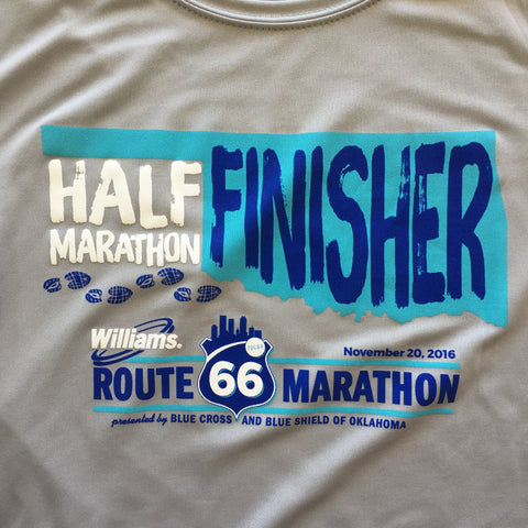 Official 2016 Williams Route 66 Marathon: Half Marathon Finisher Shirt - 2016RT66HALF