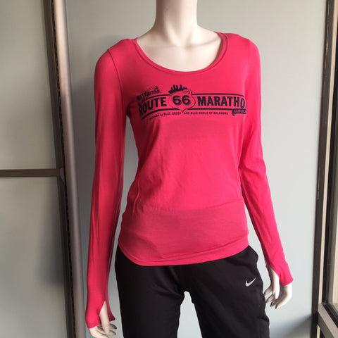 2016 Williams Route 66 Marathon - Women's Under Armour Streaker Long Sleeve - Pink Sky 1271534-600RT66