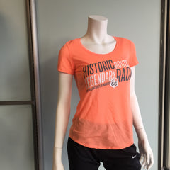 2016 Williams Route 66 Marathon - Women's Under Armour Streaker Short Sleeve - Peach 1271517-864RT66