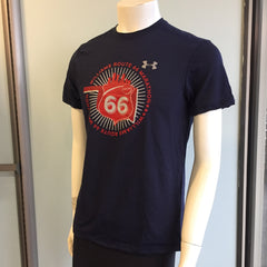 2016 Williams Route 66 Marathon - Men's Under Armour Streaker Short Sleeve - Navy 1271823-410RT66