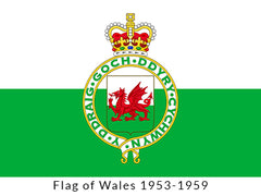 Flag of Wales 1953-1959