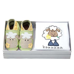 Baby Gift Set - Babygro & Shoes - Welsh Lamb-Baby-The Welsh Gift Shop