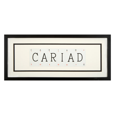Picture - Vintage Playing Cards - Cariad / Love-Picture / SIgn-The Welsh Gift Shop
