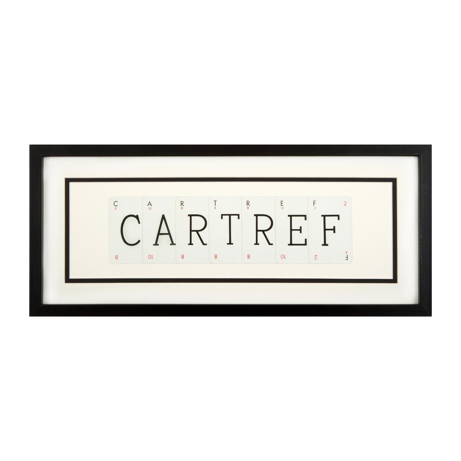 Picture - Vintage Playing Cards - Cartref / Home