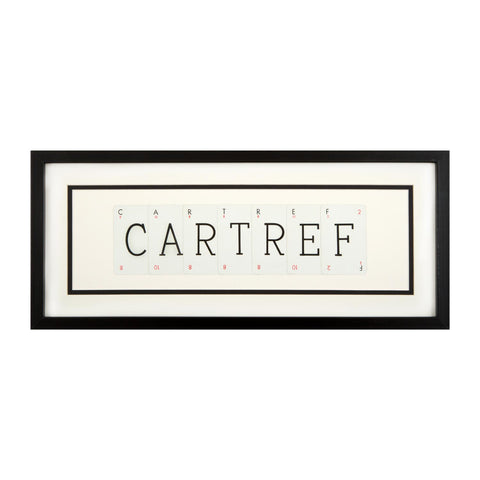 Picture - Vintage Playing Cards - Cartref / Home-Picture / SIgn-The Welsh Gift Shop
