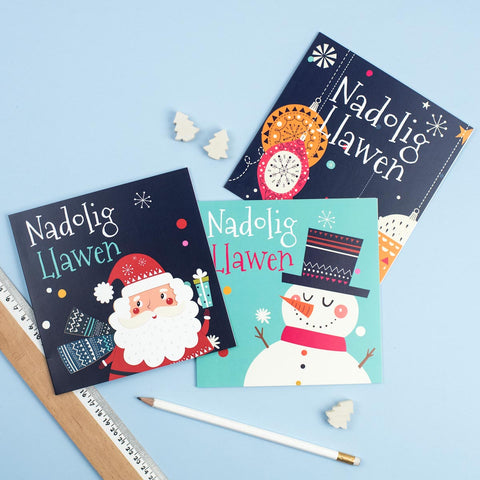 Cards - Nadolig Llawen - Jolly Christmas - Set of 6
