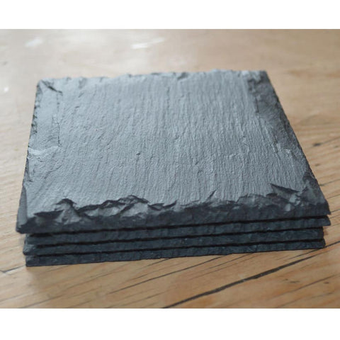 Coasters - Country style - Welsh Slate - Set of four