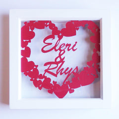 Framed Paper Cut - Couple - Personalised-Picture / SIgn-The Welsh Gift Shop