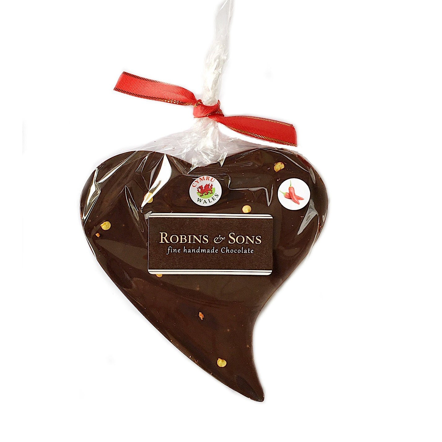 Chocolate Heart - Handmade in Wales - Hot Chilli - Dark (Vegan)