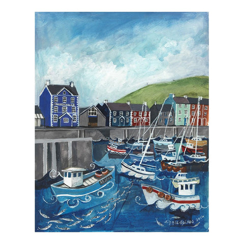 Poster / Print - Aberaeron Harbour - A3-Picture / SIgn-The Welsh Gift Shop
