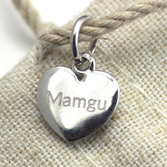 Pendant / Charm - Grandma - Mamgu - Sterling Silver or Gold Plated-The Welsh Gift Shop