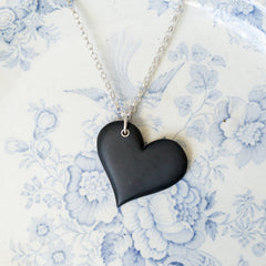 Necklace - Welsh Slate - Heart-The Welsh Gift Shop