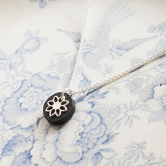 Necklace - Welsh Slate -  'Fflur'