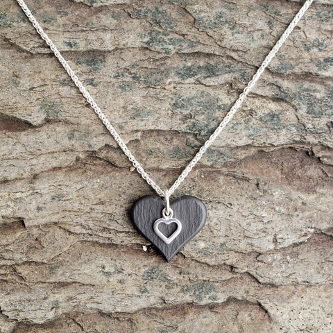 Necklace - Welsh Slate - 'Sioned'-The Welsh Gift Shop