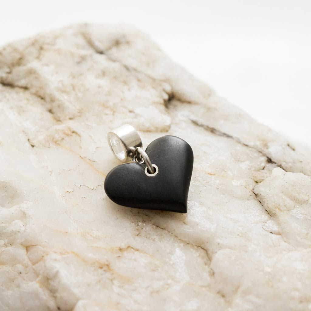 Charm - Welsh Slate -  Heart