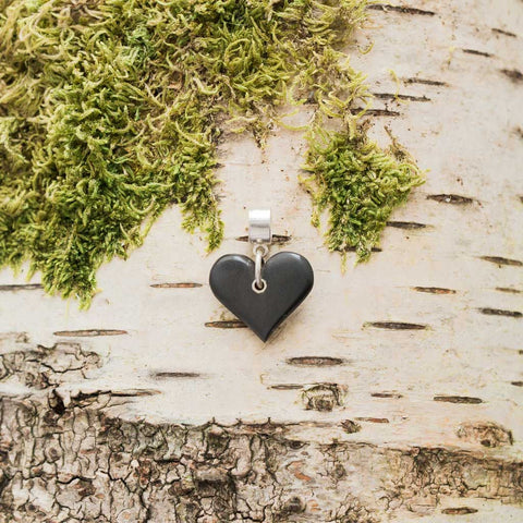 Charm - Welsh Slate - Heart-The Welsh Gift Shop