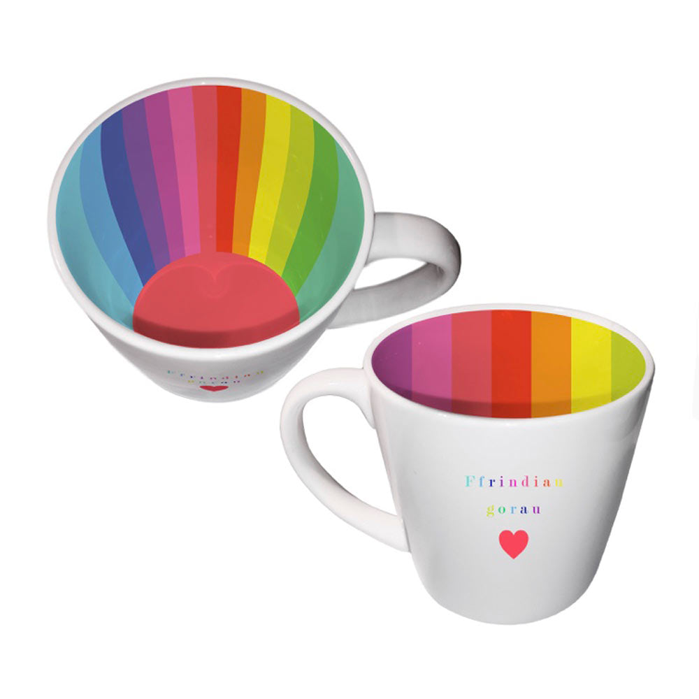 Mug - Inside Out - Ffrindiau Gorau - Best Friends - Rainbow