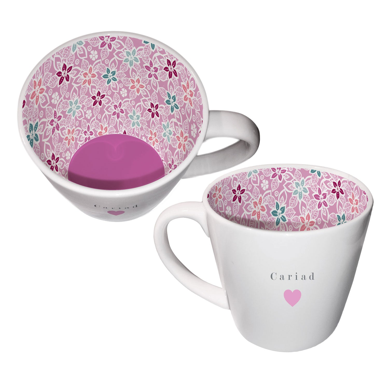 Mug - Inside Out - Cariad - Love / Sweetheart