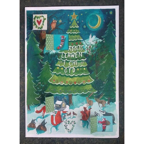 Advent Calendar - Welsh - Nadolig Llawen-The Welsh Gift Shop