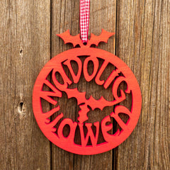 Decoration - Christmas Pudding - Nadolig Llawen / Merry Christmas