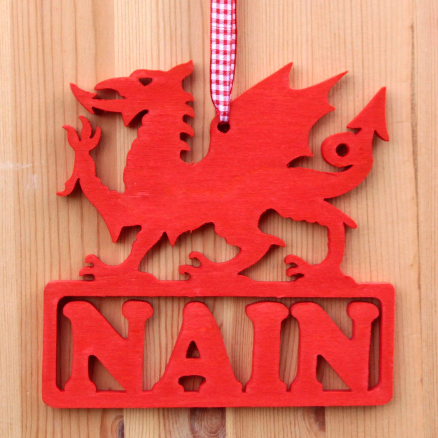 Decoration / Plaque - Dragon - Nain - Grandma / Nan