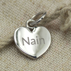 Pendant / Charm - Nan - Nain - Sterling Silver or Gold Plated