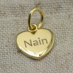 Pendant / Charm - Nan - Nain - Sterling Silver or Gold Plated-The Welsh Gift Shop