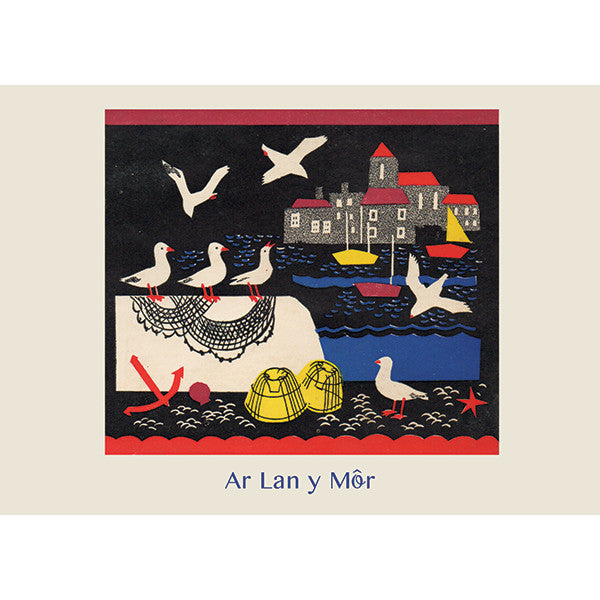 Card - Ar Lan y Mor - Down by the Sea
