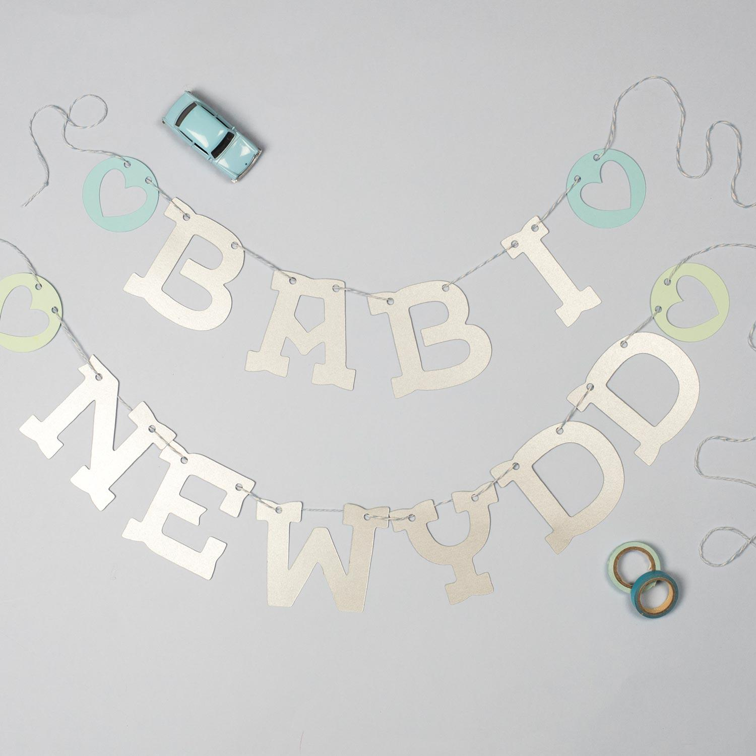 Bunting Garland - Babi Newydd - New Baby-Bunting-The Welsh Gift Shop