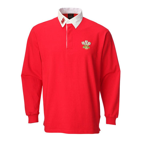 Welsh Rugby Shirt - Traditional Long Sleeve - Baby