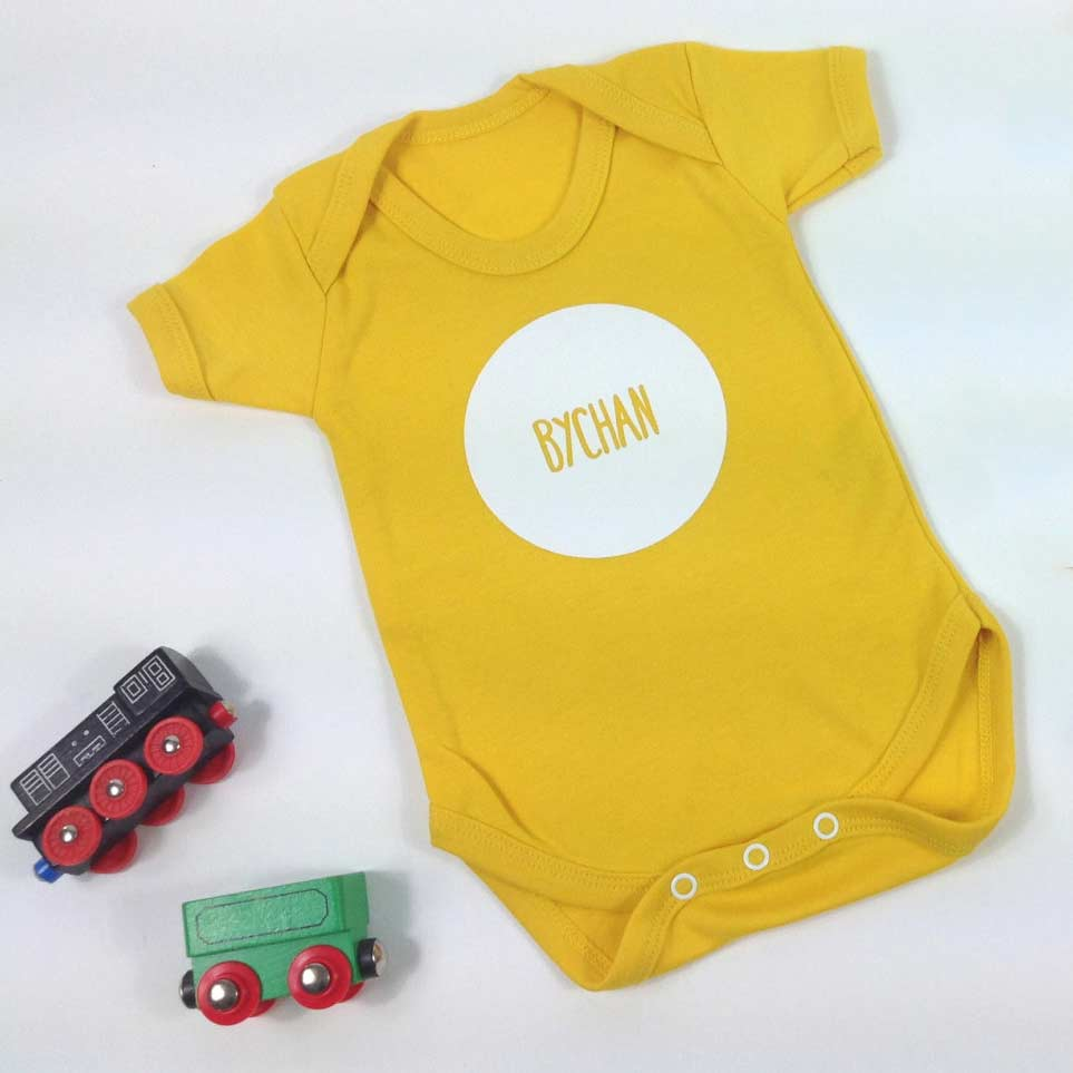 Babygrow - Little - Bychan - Yellow