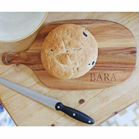 Chopping Board - Bara - Bread - Wood-The Welsh Gift Shop